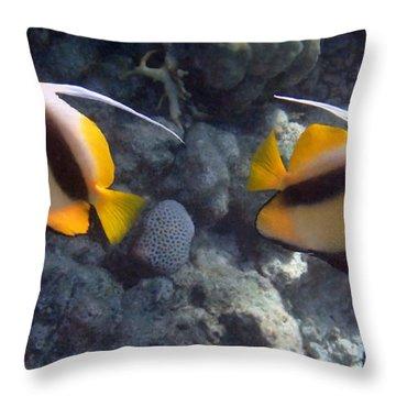 Red Sea Bannerfish 2 Throw Pillow
