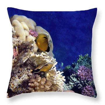 Throw Pillow featuring the photograph Red Sea Exotic World by Johanna Hurmerinta