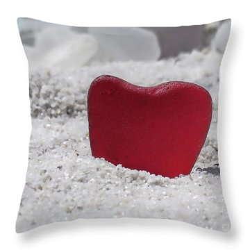 Red Sea Glass  Throw Pillow