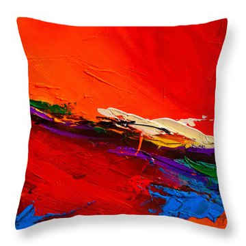 Red Sensations Throw Pillow by Elise Palmigiani