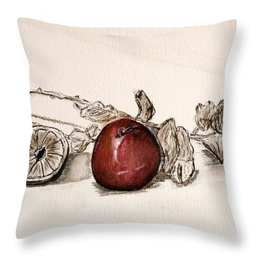 Red Sexy Plum. Throw Pillow