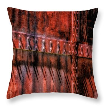 Throw Pillow featuring the photograph Red Shadows by James Barber
