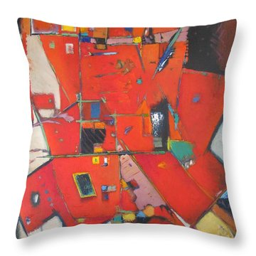 Red Shift Throw Pillow by Gary Coleman