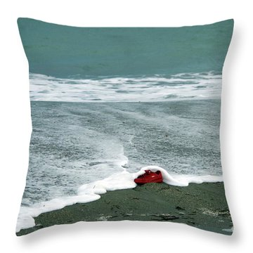 Red Shoe Surf Throw Pillow