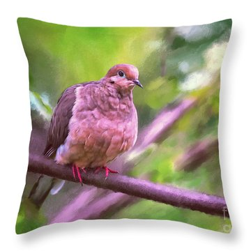 Throw Pillow featuring the digital art Red Shoes by Lois Bryan
