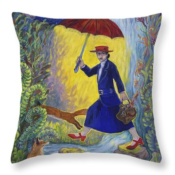 Red Shoes Mary Poppins Throw Pillow