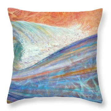 Red Skies In Morning Throw Pillow by Arlissa Vaughn