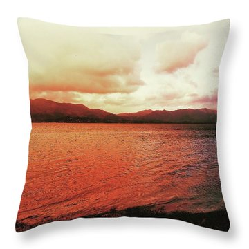 Throw Pillow featuring the photograph Red Sky After Storms  by Chriss Pagani
