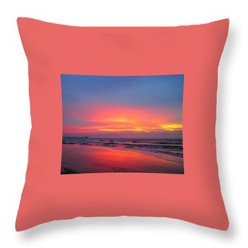 Red Sky At Morning Throw Pillow by Betty Buller Whitehead