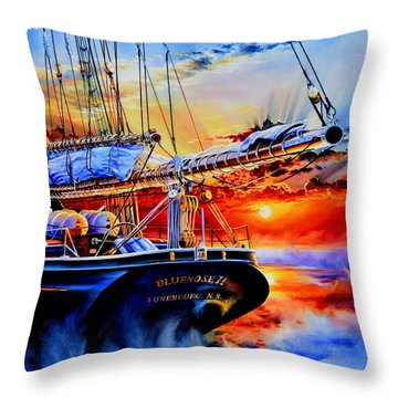 Red Sky In The Morning Throw Pillow