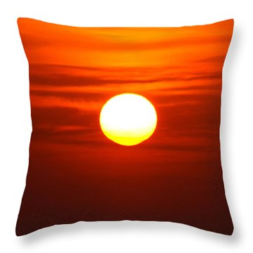 Red Sky Morning Throw Pillow