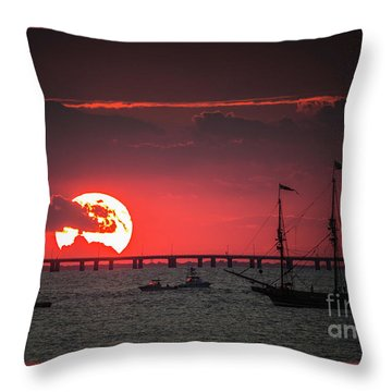 Red Sky Throw Pillow