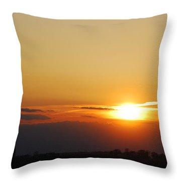 Red Sky Sunset Throw Pillow