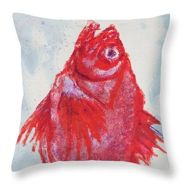 Red Snapper,head  Throw Pillow