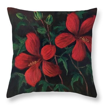 Red Soldiers Throw Pillow