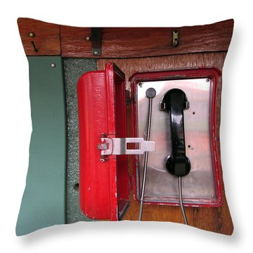 Red Sox Dugout Phone Throw Pillow