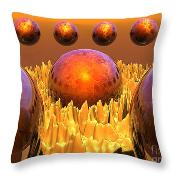 Red Spheres Throw Pillow