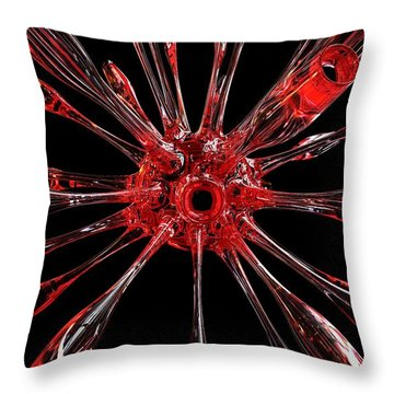 Red Spires Of Glass Throw Pillow