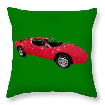 Red Sport Car Art Throw Pillow