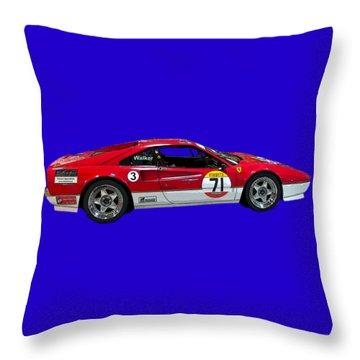 Red Sports Racer Art Throw Pillow