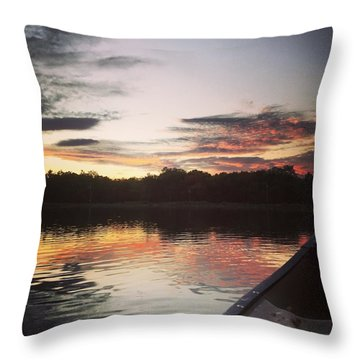 Red Spotted Sunset Throw Pillow