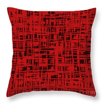 Red Square Oct31201 Throw Pillow