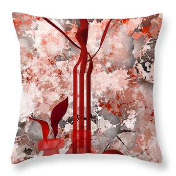 Red Stain Still Life Throw Pillow
