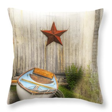 Red Star Boat Throw Pillow