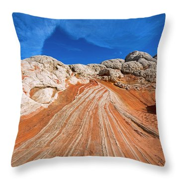 Throw Pillow featuring the photograph Red Stone Highway by Mike Dawson