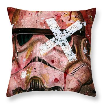 Red Stormtrooper Throw Pillow