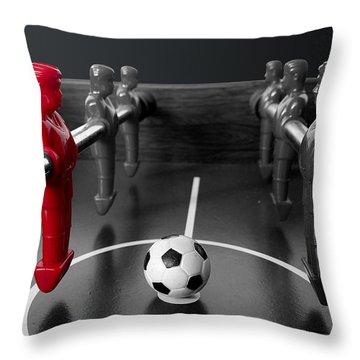 Red Striker Throw Pillow
