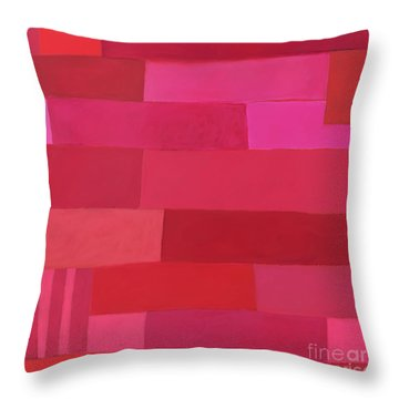 Throw Pillow featuring the photograph Red Stripes 1 by Elena Nosyreva