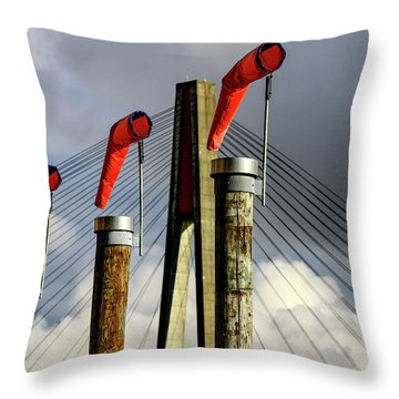 Red Subject Throw Pillow