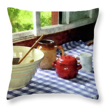 Red Sugar Bowl Throw Pillow