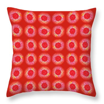 Throw Pillow featuring the painting Red Sun by Kym Nicolas