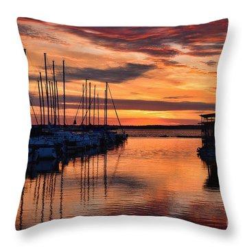 Red  Sunrise Throw Pillow