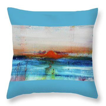 Throw Pillow featuring the painting Red Sunset by Kim Nelson