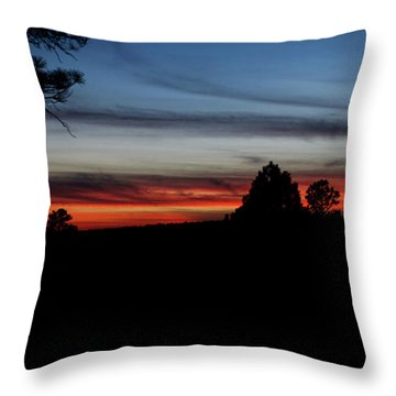 Red Sunset Strip Throw Pillow