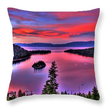 Red Tahoe Throw Pillow