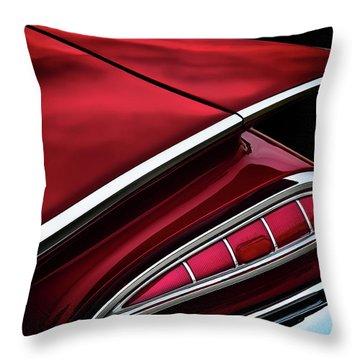 Red Tail Impala Vintage '59 Throw Pillow by Douglas Pittman