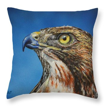 Red-tailed Hawk......honor Throw Pillow
