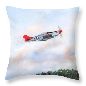 Red Tails Throw Pillow