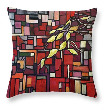 Throw Pillow featuring the painting Red Tango by Joanne Smoley