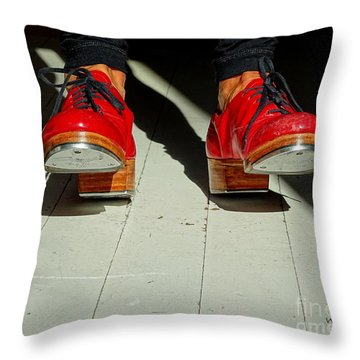 Red Tap Shoes Throw Pillow