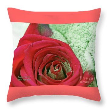 Throw Pillow featuring the digital art Red by Terry Foster