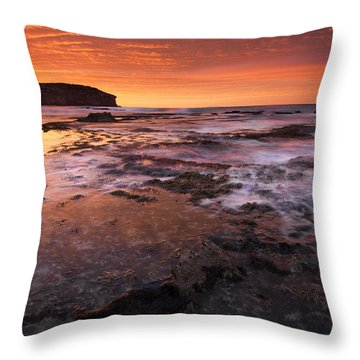Red Tides Throw Pillow by Mike  Dawson