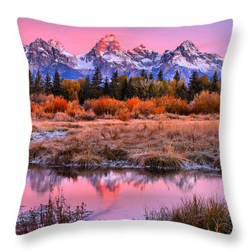 Red Tip On The Grand Throw Pillow