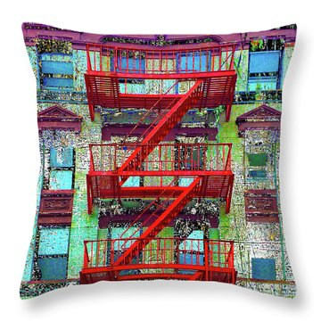 Throw Pillow featuring the mixed media Red by Tony Rubino