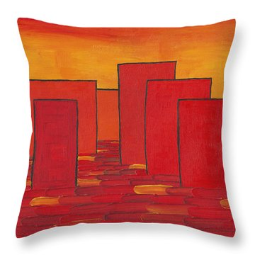 Red Town P1 Throw Pillow
