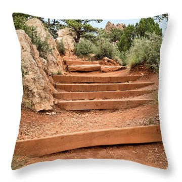 Red Trail Throw Pillow